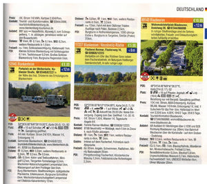 Reise Mobil Bord Atlas 2020 German Stellplatze Guide motorhome stopover europe 9783928803878 look inside entry germany