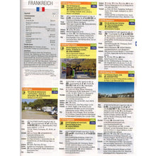 Load image into Gallery viewer, Reise Mobil Bord Atlas 2020 German Stellplatze Guide motorhome stopover europe 9783928803878 look inside entry france