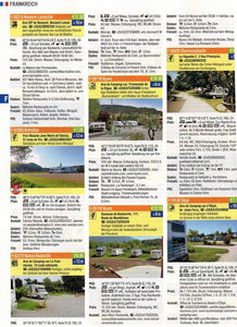 Reise Mobil Bord Atlas 2020 German Stellplatze Guide motorhome stopover europe 9783928803878 entry preview france