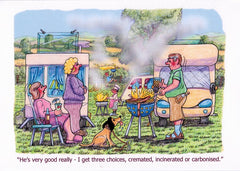Motorhome caravan greeting cards birthday christmas - CD16 griller killer