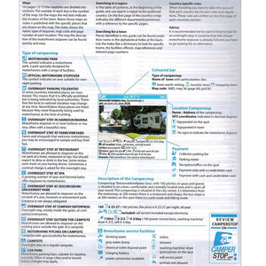 Camperstop Europe 2020 Aires Stellplatze Sosta Motorhome Stopovers Guide entry explanation