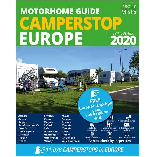 Camperstop Europe 2020 Aires Stellplatze Sosta Motorhome Stopovers Guide