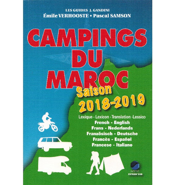 Campings du Maroc 2018 - 2019 9782864106333 front cover