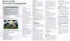 AA Caravan and Camping UK Guide 2018 51st Edition 9780749579852 how to use guide key