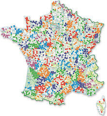 France Passion map 2018 motorhome and campervan stopover scheme
