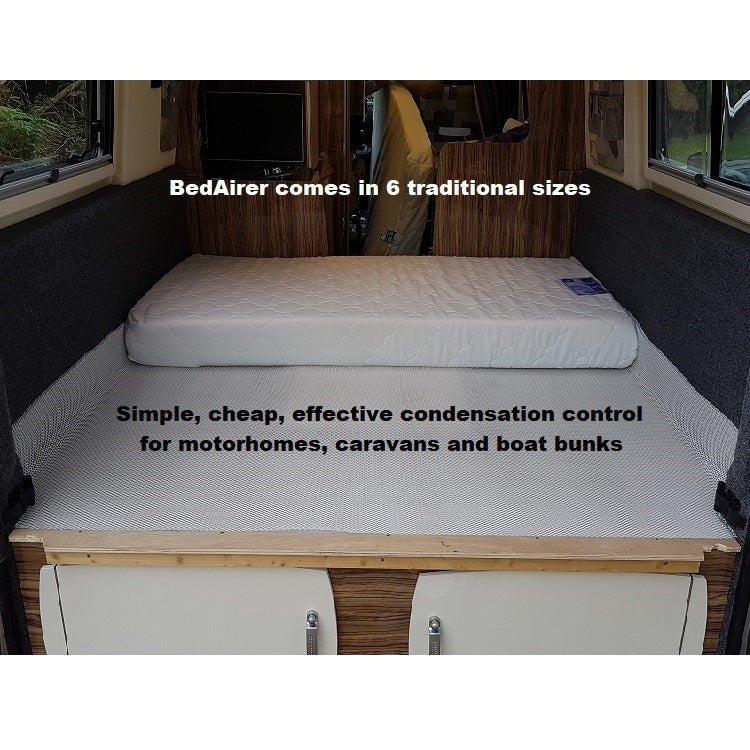 Stop caravan seat cushions getting damp and mouldy with BedAirer mattress underlay.