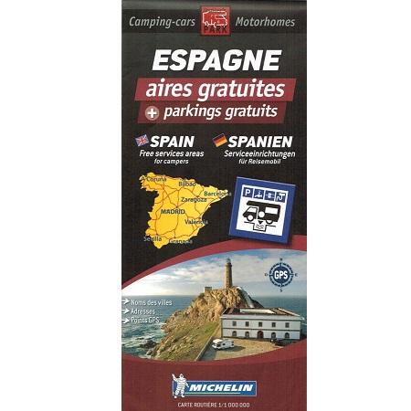 Michelin Spain Trailer's Park Aires Map IBSN:9782919004294 Atlas, Altases, Map, Mapping, Locator map