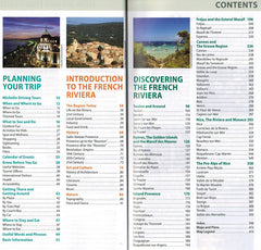 French Riviera - Michelin Green Guide IBSN:9782067206625 Travelguide, Tour, Driving Tour contents