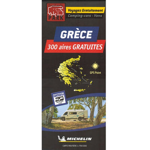 Michelin Greece Trailer's Park Aires Map 9782919004508 front cover
