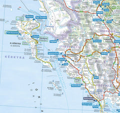 Michelin Greece Trailer's Park Aires Map 9782919004508 map preview thesprotia preveza kerkyra