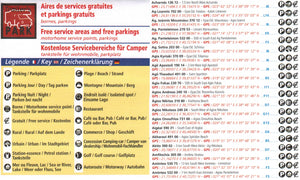 Michelin Greece Trailer's Park Aires Map 9782919004508 key how to use guide legend entries
