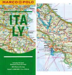 Marco Polo Italy Guide 9783829707695 fold out sheet map