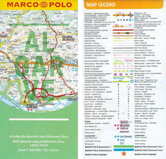 Marco Polo Algarve Guide 9783829707954 fold out sheet map legend