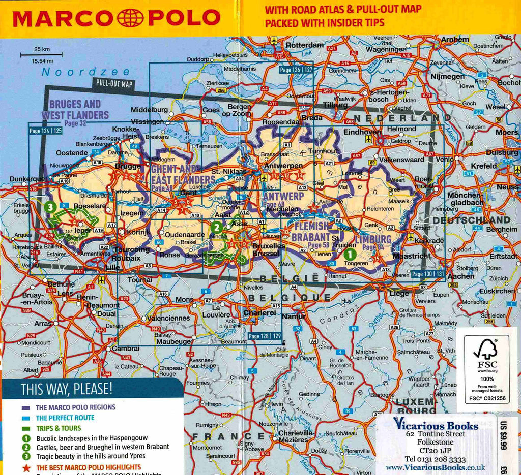 Marco Polo Bruges, Ghent and Antwerp Guide