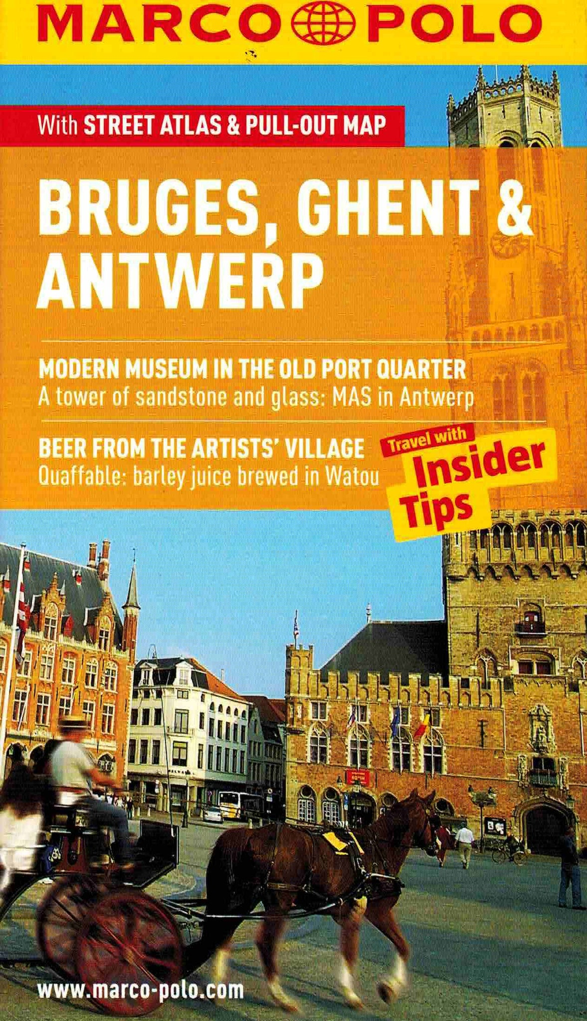 Marco Polo Bruges Ghent and Antwerp Guide ISBN9783829707442