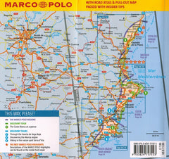 Marco Polo Costa Blanca Guide 9783829757553 back of front cover map