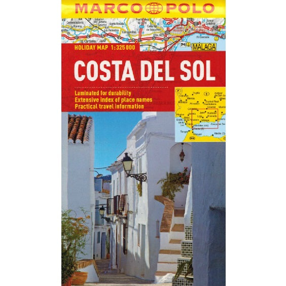 Marco Polo Costa Del Sol Sheet Map IBSN:9783829770217 Atlas, Altases, Map, Mapping, Locator map