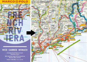 Marco Polo French Riviera Guide 9783829707671 locator fold out sheet map