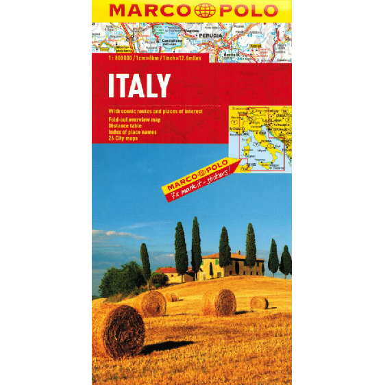Marco Polo Italy Sheet Map IBSN:9783829767255 Atlas, Altases, Map, Mapping, Locator map