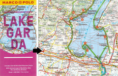 Marco Polo Lake Garda Guide 9783829707718 fold out sheet map