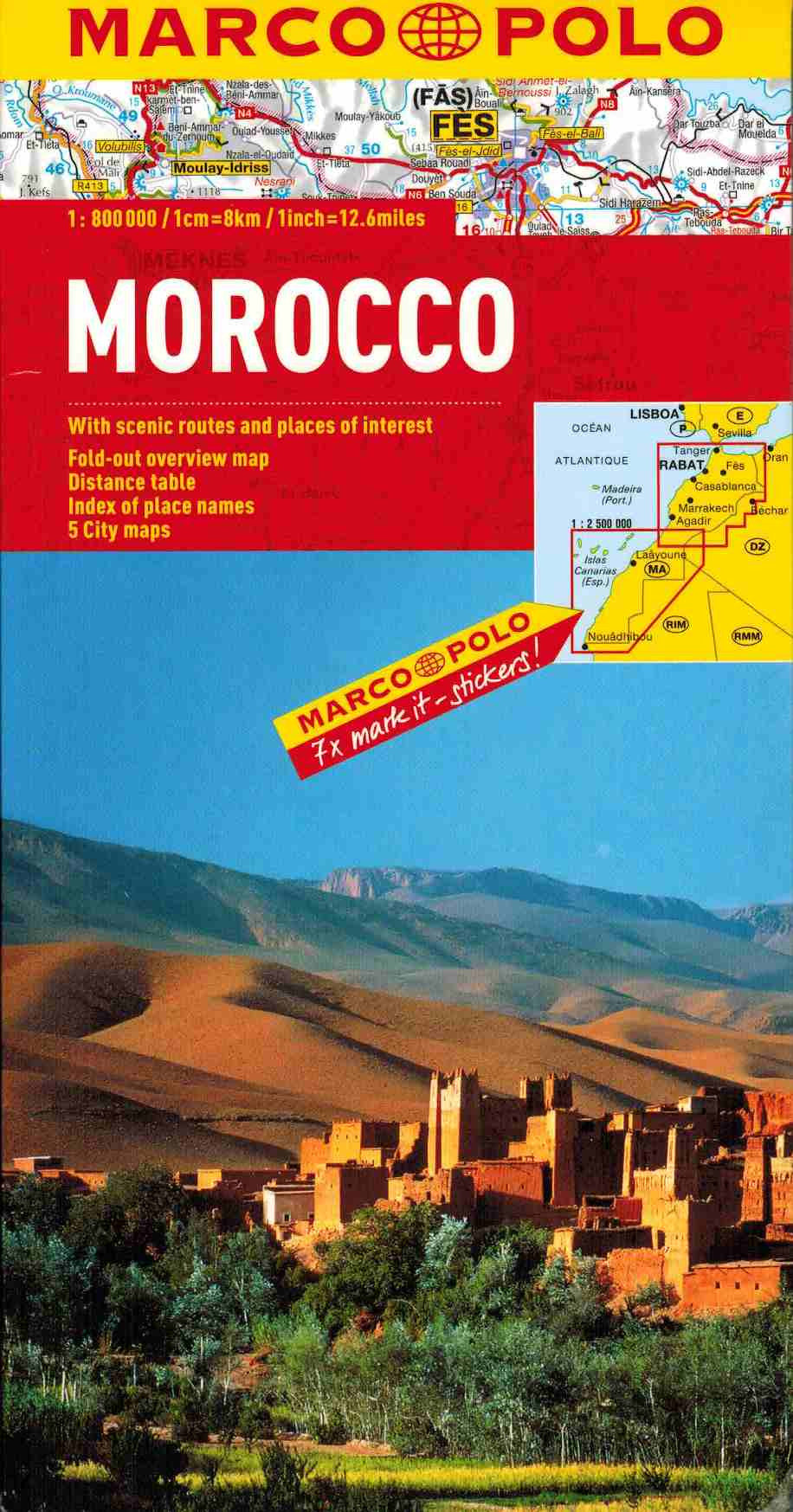 Marco Polo Morocco Map IBSN:9783829767316 Atlas, Altases, Map, Mapping, Locator map