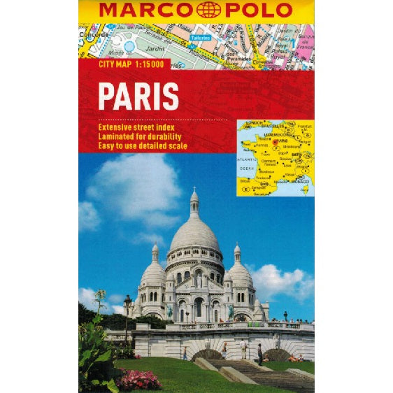 Marco Polo Paris Sheet Map IBSN:9783829769570 Atlas, Altases, Map, Mapping, Locator map