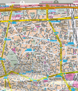 Marco Polo Paris Sheet Map 9783829769570 montmartre city map