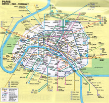 Load image into Gallery viewer, Marco Polo Paris Sheet Map 9783829769570 paris tramway map