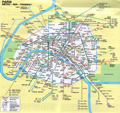Marco Polo Paris Sheet Map 9783829769570 paris tramway map