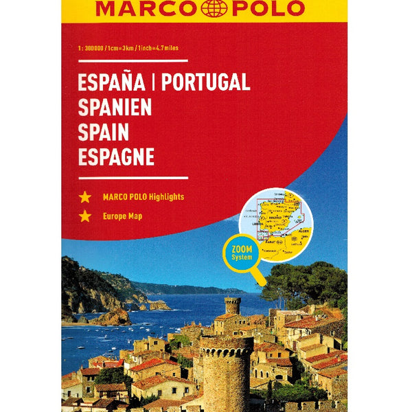 Marco Polo Spain & Portugal Road Atlas 2018 9783829736893 front cover