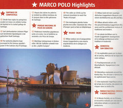 Marco Polo Spain & Portugal Road Atlas 2018 9783829736893 highlights