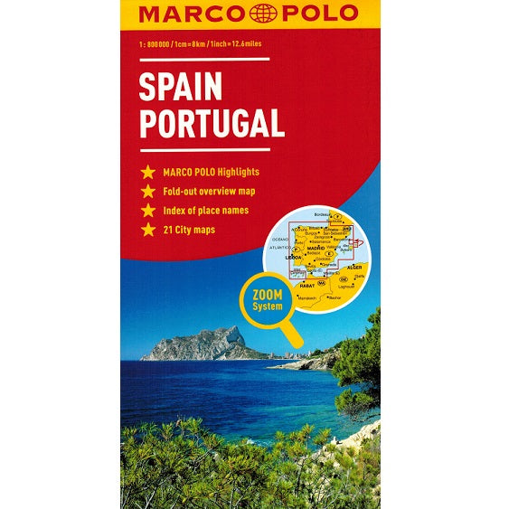 Marco Polo Spain & Portugal Sheet Map 9783829767262 front cover