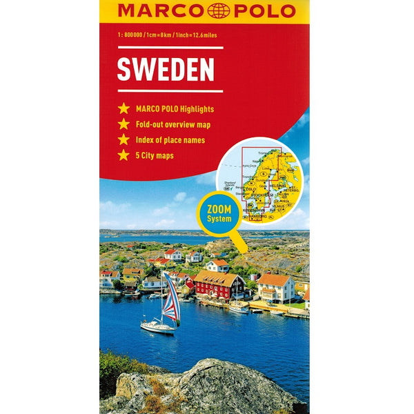 Marco Polo Sweden Sheet Map 9783829770033 front cover