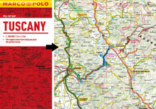 Load image into Gallery viewer, Marco Polo Tuscany Guide 9783829707268 fold out locator sheet map