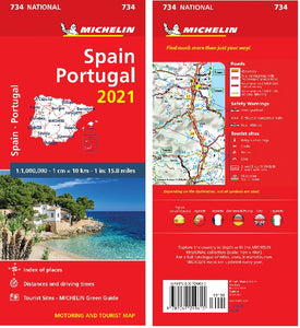 2021 Michelin Spain & Portugal Sheet Map 734