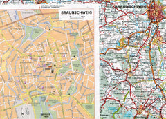 2019 Michelin Central Europe Spiralbound Road Atlas 9782067236110 braunschweig city map