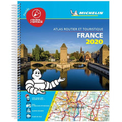2020 Michelin Laminated France Spiralbound Road Atlas ISBN:9782067242272 front cover