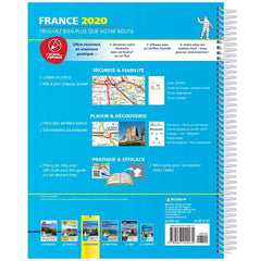 2020 Michelin Laminated France Spiralbound Road Atlas ISBN:9782067242272 back cover