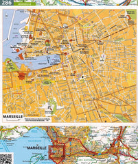 2020 Michelin Laminated France Spiralbound Road Atlas ISBN:9782067242272 marseille street map