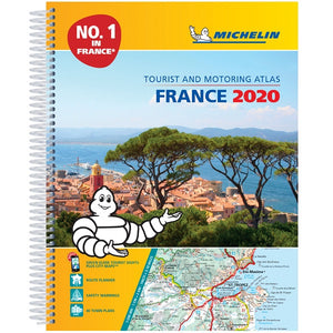 2020 Michelin France Spiralbound Road Atlas ISBN:9782067242234 front cover