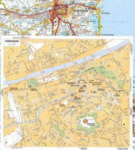 2020 Michelin France Spiralbound Road Atlas ISBN:9782067242234 perpignan city map
