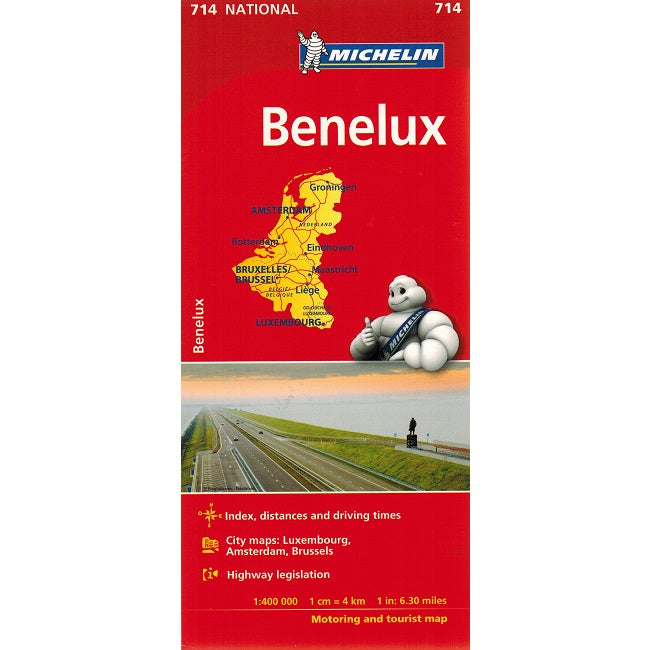 Michelin Benelux Sheet Map 714 IBSN:9782067170605 Atlas, Altases, Map, Mapping, Locator map front cover