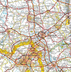 Michelin Benelux Sheet Map 714 IBSN:9782067170605 Atlas, Altases, Map, Mapping, Locator map roubaix kortrijk