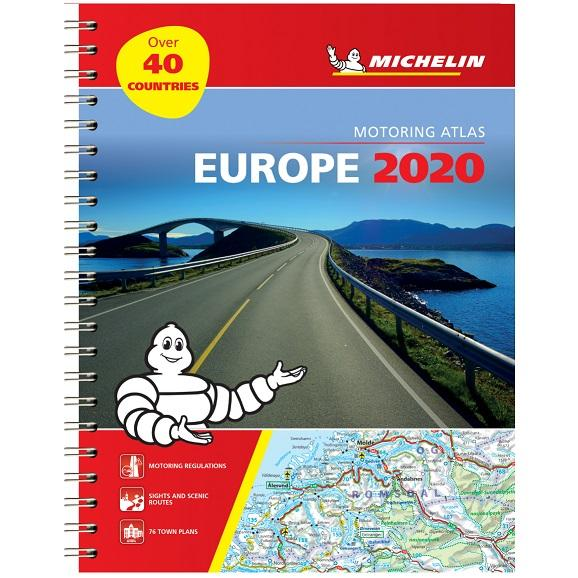 2020 Michelin Motoring Atlas Europe 9782067244450 front cover