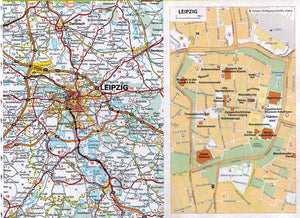 2020 Michelin Motoring Atlas Europe 9782067244450 leipzig map preview