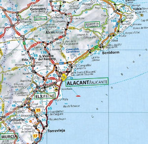 2020 Michelin Motoring Atlas Europe 9782067244450 alicante map preview