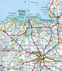 2020 Michelin Motoring Atlas Europe 9782067244450 rennes st malo map preview