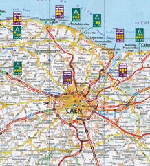 Campsites and Aires in Caen or nearby on map