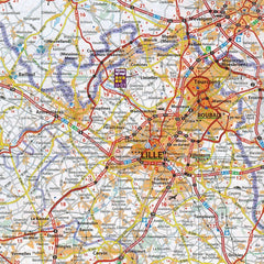 Map of motorhome Aires Camping Car near lille
