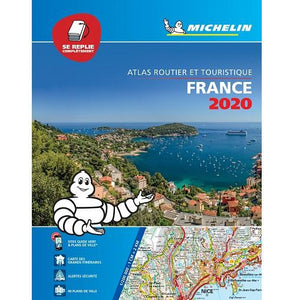 2020 Michelin France Flexibound (Stitched) Fold Flat Road Atlas 9782067242241